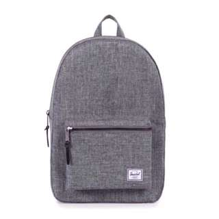 [INSTOCK] HERSCHEL SUPPLY SETTLEMENT BACKPACK (RAVEN CROSSHATCH)