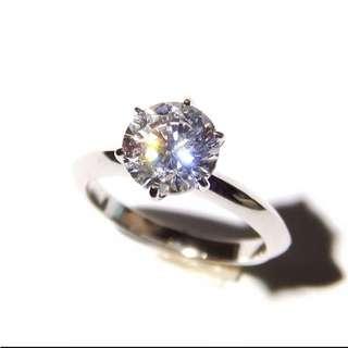 勁閃防鑽戒指 1.5 卡 內圈15.8 mm