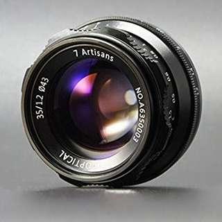 7Artisans 35mm f/1.2 Lens