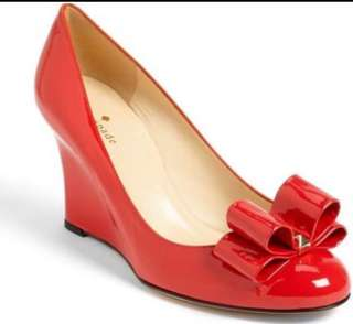 Almost Brand New Kate Spade Metro Wedge Shoes in Red