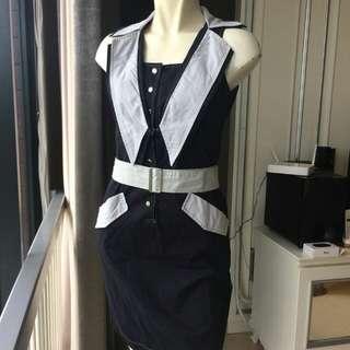 Dress Black n Grey