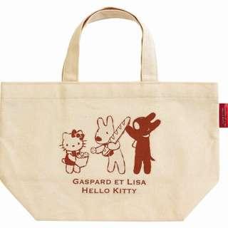 Gaspard and Lisa x Hello Kitty 飯盒 環保袋 100% New 全新未拆袋 棉質 帶飯用