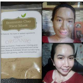 100% Calcium Bentonite Clay mask