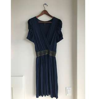 Mango Wrap Dress with Bell Sleeves - size medium
