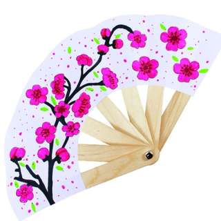 Chinese New Year Paper Fan - Spring Flower