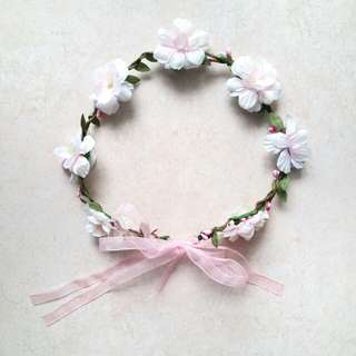 BN White/Pink Flower Crown (WITH MAIL)