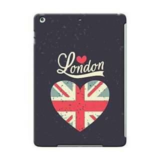 London With UK Flag Heart iPad 5 (Air) Custom Hard Case