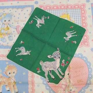 古董雜貨vintage小鹿手巾擺設