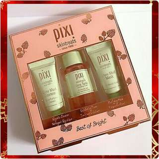 PIXI Best Of Bright Set: Glow Mud Cleanser, Tonic Exfoliating Toner & Mud Mask