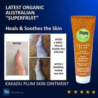 Latest Australian Organic Skin Treatment - Kakadu Plum Ointment (Eczema, Nappy Rash, Wound)