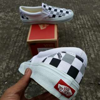 Vans slip on (vault)  Tri Check White - Black - Grey
