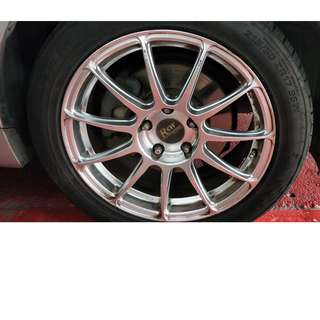 Selling Or Trading of 4x 18 inch RSW Racing rims (215/50)