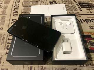 Iphone 7 Plus 128gb Globe Locked LTE Jet Black Smooth Complete