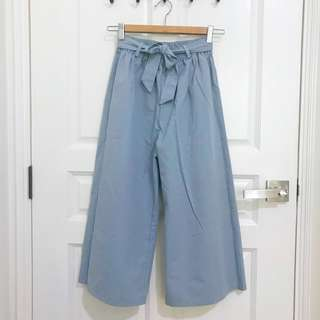 BN Light Blue Grey Coulettes Pants