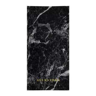 Personalized Black Marble Towel