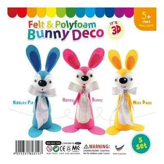 Felt & Polyfoam Bunny Deco Kit