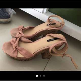 REPRICE F21 Nude Wedges