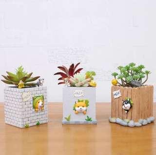 PO: Dog Succulents Pot