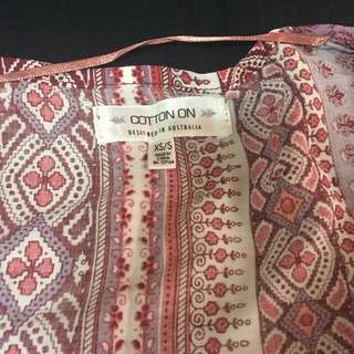 Cotton on beach cover up