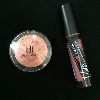 Elf Baked Blush and La Girl Matte Lipstick Bundle