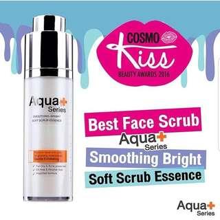 Aqua+ series smoothing bright soft scrub essence