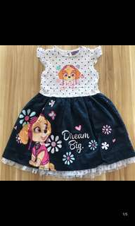 Instock Paw Patrol authentic dress size 4-5yrs and 6-7yrs old brand new