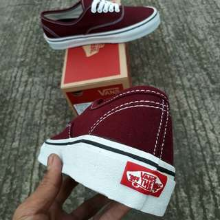 Vans old authentic maroon