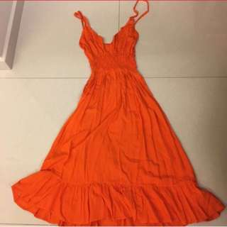 Orange Sun Summer Dress