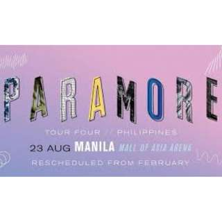 Lowerbox B Ticket - Paramore Live in Manila Aug 23