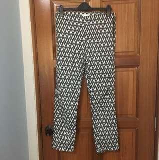 H&M tribal high waist slim fit pants EUR42