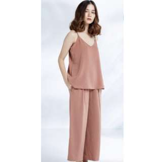 NWOT Uniqlo Set (Wide Leg Ankle Length Trousers and Camisole)