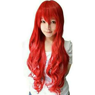 Wig Curly Red