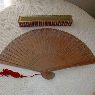 Sandal wood hand Fan