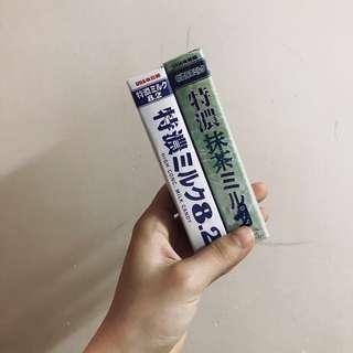 日本進口零食糖果悠哈UHA味覺糖特濃8.2牛乳糖(37g)牛奶糖/抹茶糖