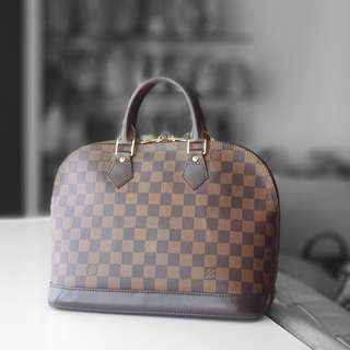 Authentic Louis Vuitton Damier Ebene Alma PM LV