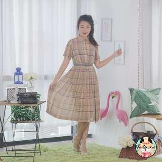 🍿 Vintage Midi Dress VD1112