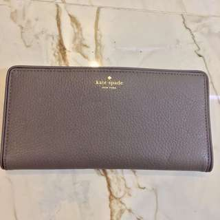 Kate Spade PWRU2182 Cobble Hill Stacy Grey Wallet (Wallet only)