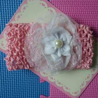 Baby Girl Pink/White Head Dress
