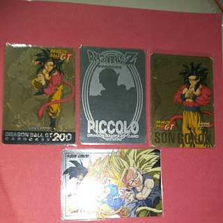 Dragonball card gold and silver set $100