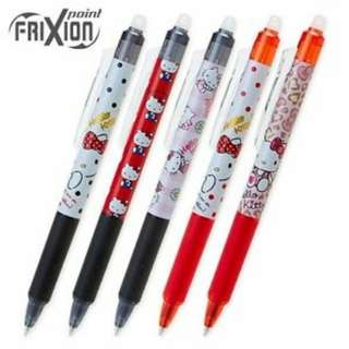日本直送Hello Kitty Frixion可擦寫原子筆 黑/紅 多款選擇 erasable pen