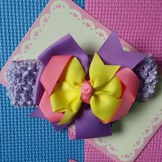 Purple Baby Head Dress