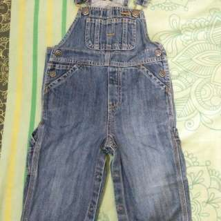 Baby gap overall jumpsuit jeans
