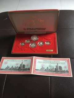 1986 Spore 1c to $1 Sterling Silver Proof Set
