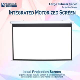 [BIGSHINE] 100 Inch 16:9 Integrated Motorized Projector Screen