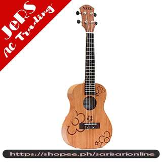 YAEL Concert Ukulele Mahogany Six Tattoo Flowers For Beginners Y-U2