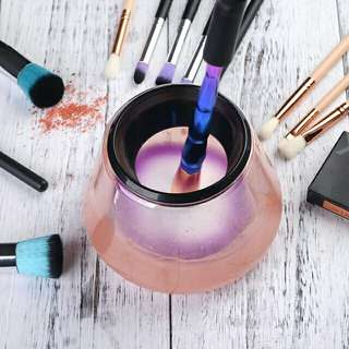 (PO) Electronic Makeup Brush Cleaner Pot