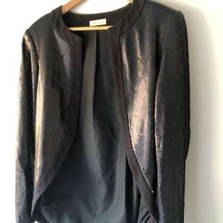 Sass and Bide vintage sequin tuxedo jacket, size small