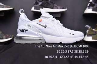 耐克 The 10:Nike Air Max 270,鞋盒和細節無懈可擊。 鞋型走線 ,緊密車線,做工嚴謹,標簽中橙色凸顯。 所有配件一應俱全! 通過手工剪裁、開源和重新構造的設計 完美出貨。 尺碼:36 36.5 37.5 38 39 40 40.5 41 42 42.5 43 44 44.5 45