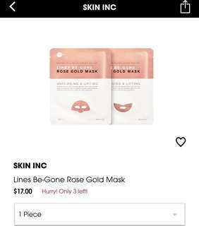 (Clear stock -50%) Skininc Lines Be Gone mask