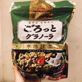 日清Nissin 水果穀物麥脆麥片 宇治抹茶/豐盛果實/充實大豆麦片500g